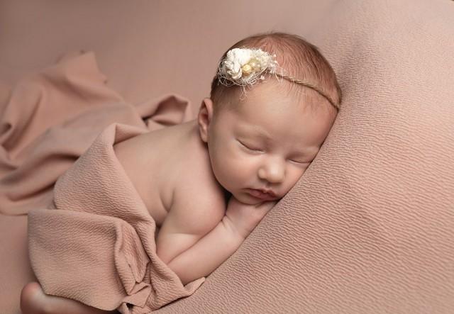 Newborn Photographer Bedford baby girl sleeping