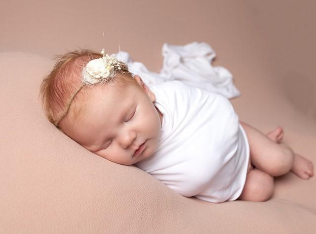 Newborn Photographer Bedford baby girl asleep
