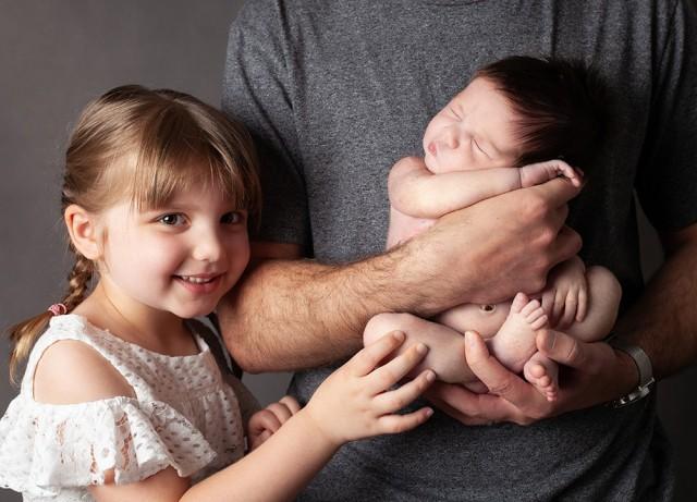 Newborn Photographer Olney baby girl with big sister