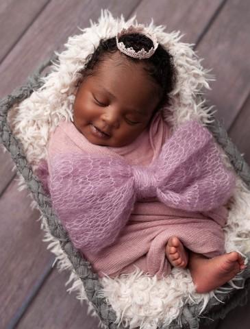 Newborn photographer Olney baby girl in pink