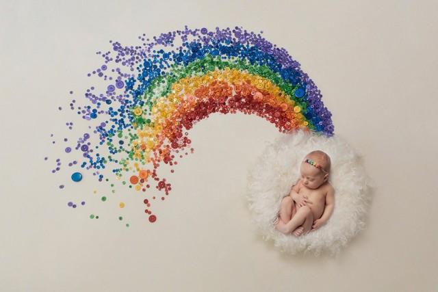 Rainbow baby newborn photographer Northampton