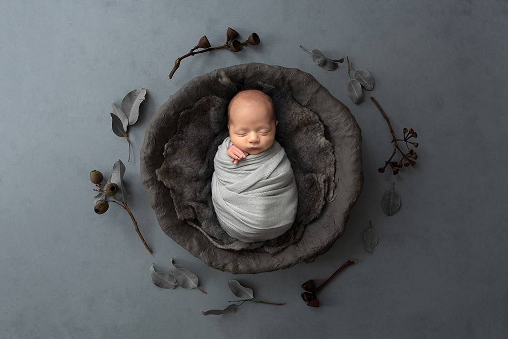 Premature newborn Milton Keynes boy photography black and white