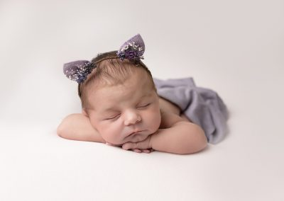 Newborn Photographer Northampton baby kitten ears