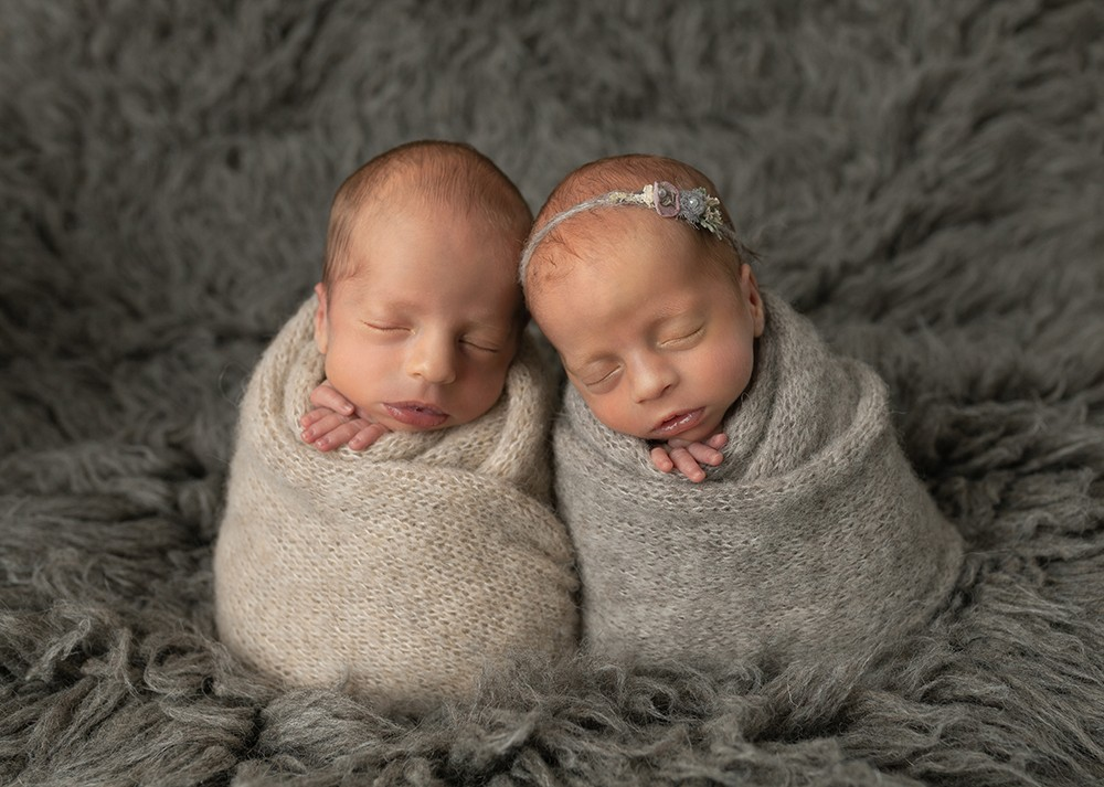 Newborn Photographer in Milton Keynes baby twins boy and girl