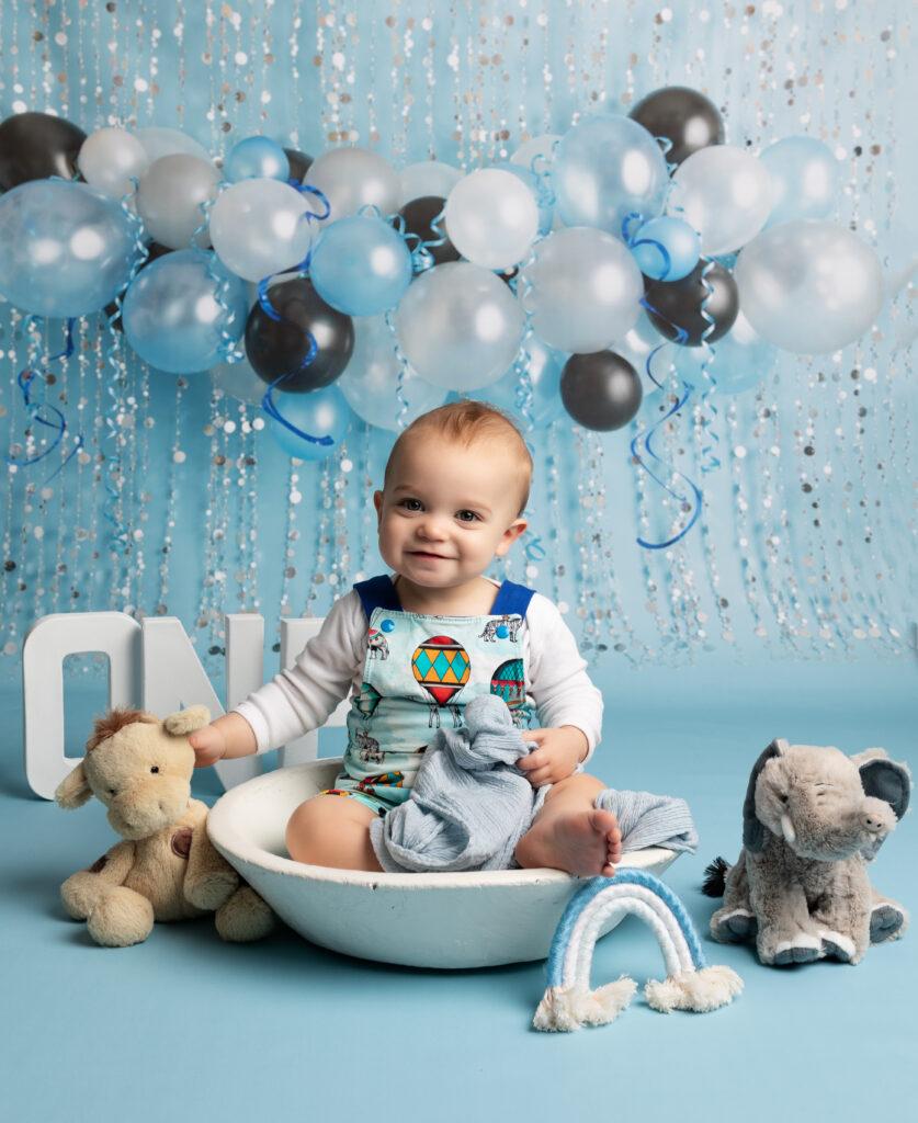 baby boy first birthday photoshoot Cake Smash Milton Keynes