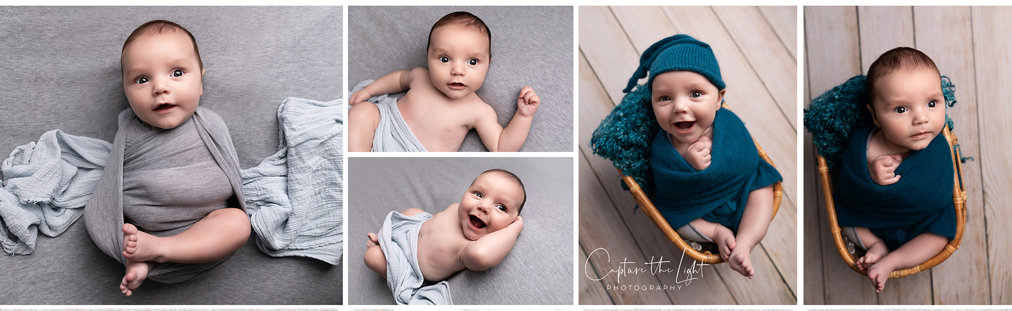 baby boy in blue and grey in newborn photography Northampton and Milton Keynes mini sessions good value