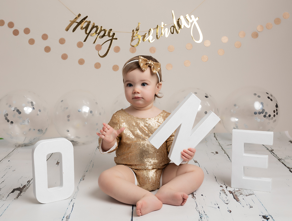 alternative to a cake smash a baby milestone session for first birthday