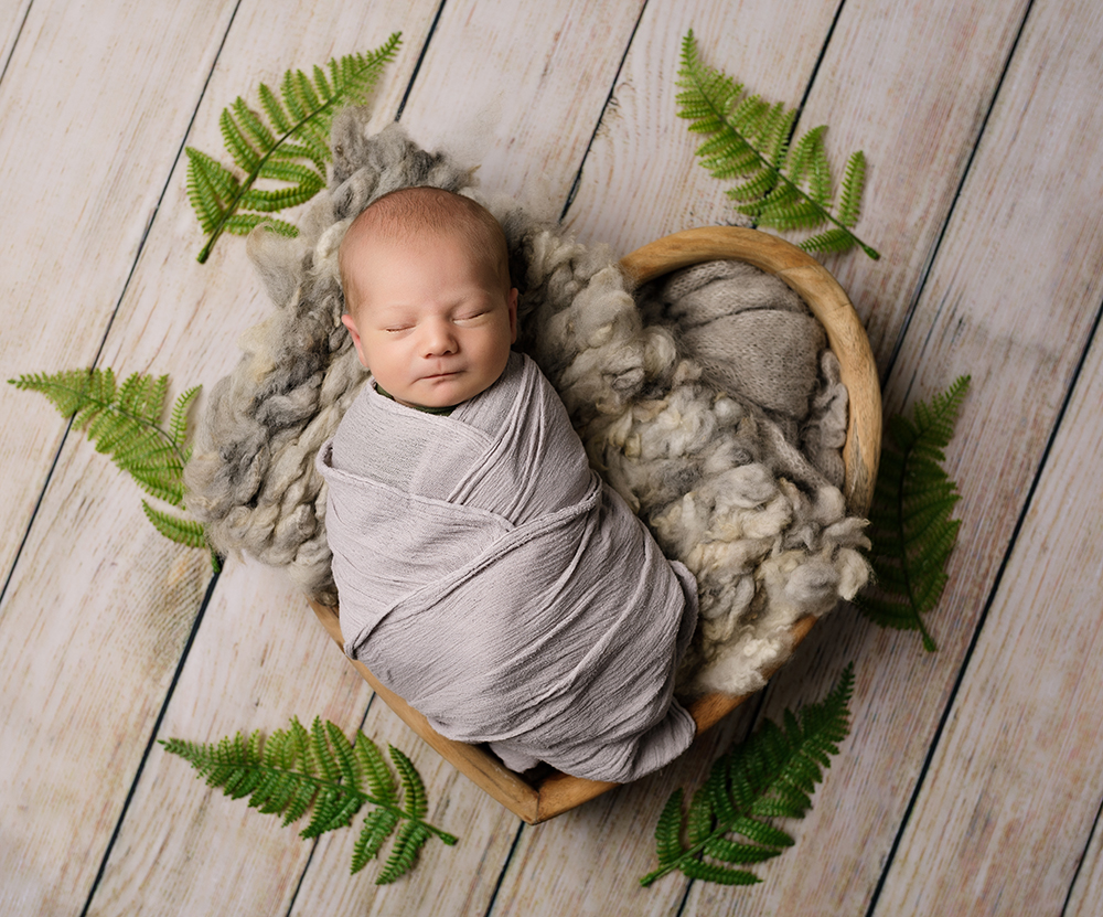 Baby boy natural styling by Newborn Photographer in Milton Keynes and Northampton