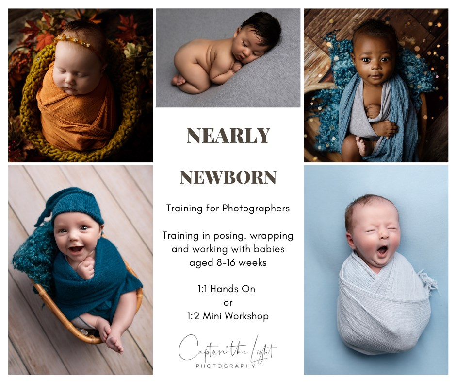 Newborn photography training with older babies