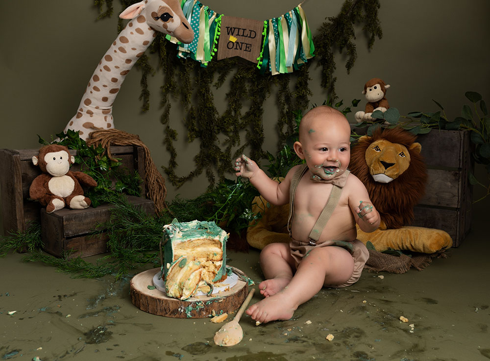 Jungle cake smash ideas